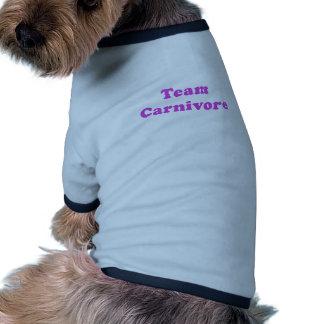 Carnívoro del equipo camisa de perro