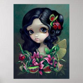 Carnivorous Bouquet Fairy Art Print gothic