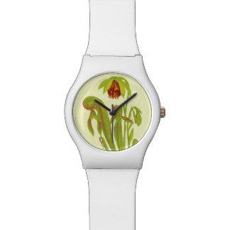 Carnivorous Cobra Plant Wrist Watches