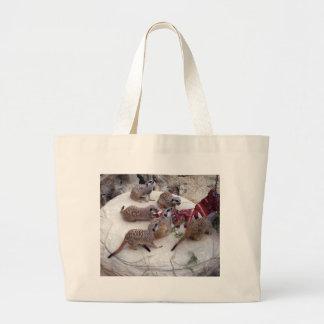 Carnivorous_Meerkats,_ Large Tote Bag