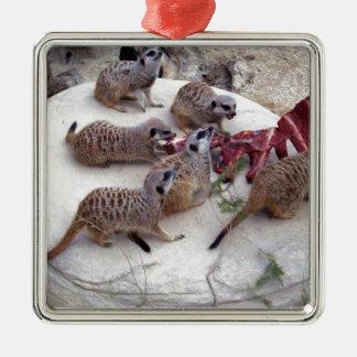 Carnivorous_Meerkats,_ Metal Ornament