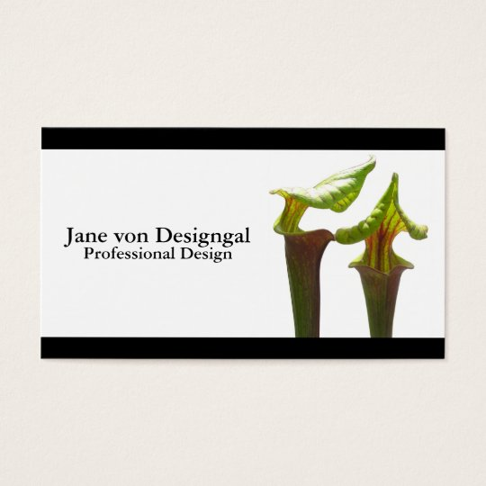 Carnivorous Pitcher Plant Business Card