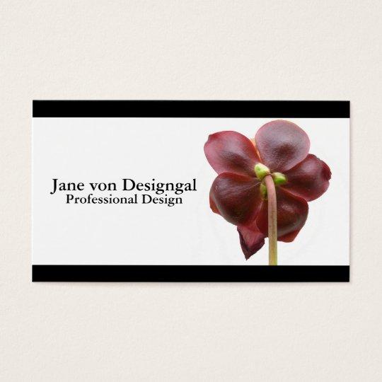 Carnivorous Pitcher Plant Flower Business Card