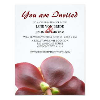 Carnivorous Pitcher Plant Flower Wedding Card