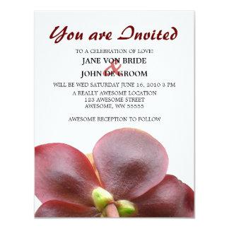 "Carnivorous Pitcher Plant Flower Wedding 4.25"" X 5.5"" Invitation Card"