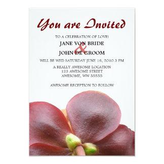 "Carnivorous Pitcher Plant Flower Wedding 5"" X 7"" Invitation Card"