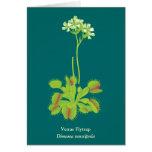 Carnivorous Plant Floral Art Card