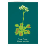 Carnivorous Plant Floral Art Stationery Note Card