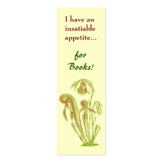 Carnivorous Plant Mini-Bookmark Double-Sided Mini Business Cards (Pack Of 20)
