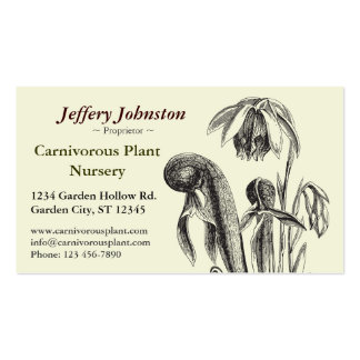 Carnivorous Plant Nursery Double-Sided Standard Business Cards (Pack Of 100)