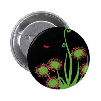 Carnivorous Sundew Plant Pinback Button