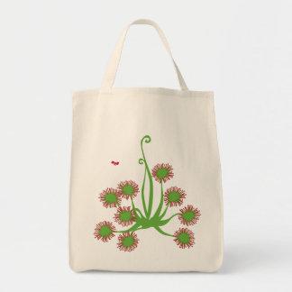 Carnivorous Sundew Plant Tote Bag