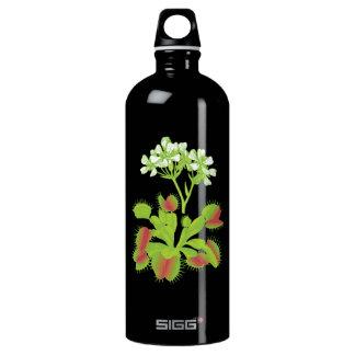 Carnivorous Venus Flytrap & Flowers Aluminum Water Bottle