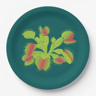 Carnivorous Venus Flytrap Paper Plate