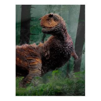 Carnotaurus Dinosaur Cretaceous Period Grass Trees Postcard
