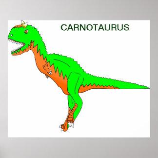 Carnotaurus Dinosaur Poster
