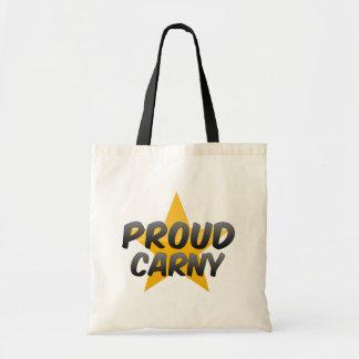 Carny orgulloso bolsa tela barata
