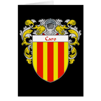 Caro Coat of Arms  (Mantled) Card