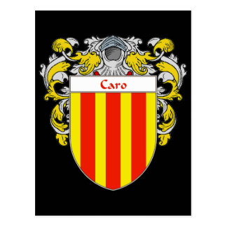 Caro Coat of Arms  (Mantled) Postcard