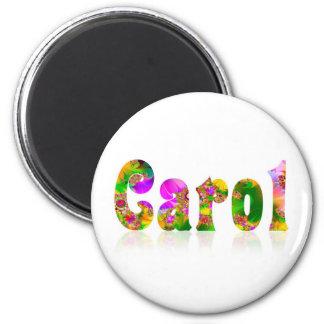 Carol 2 Inch Round Magnet