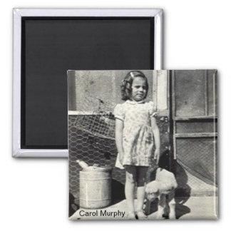 Carol and lamb magnet