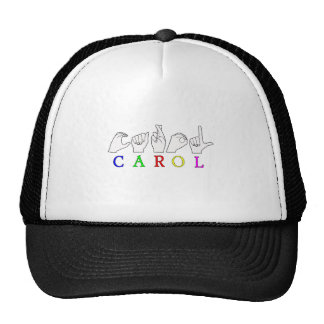 CAROL ASL FINGERSPELLED MALE NAME TRUCKER HAT
