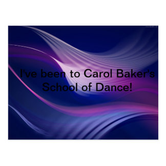 Carol Baker's School of Dance Postcard