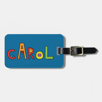 """""""Carol"""" Monster Letters Tag For Luggage"""