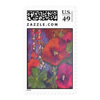 Carol Pierce Hollyhocks Postage Stamps