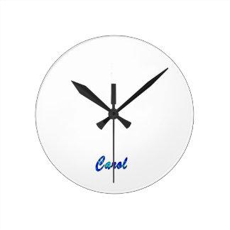 Carol Round Clock