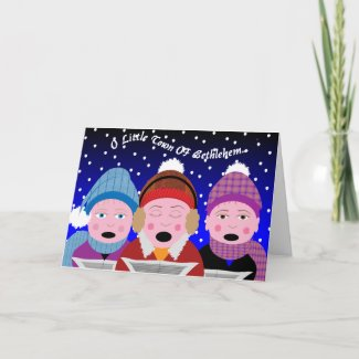 Carol Singers Christmas card