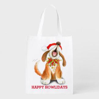 Carol singing howliday dog art bag