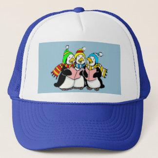 Carol Singing Penguins Drawing Trucker Hat