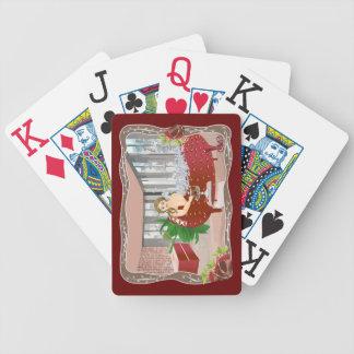 Carola Bañándose Baraja Cartas De Poker