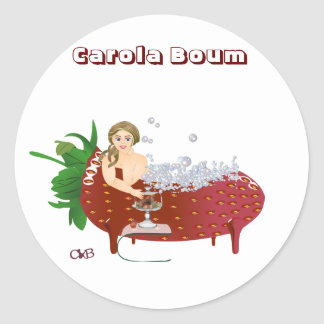 Carola boum classic round sticker