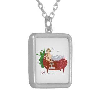 Carola boum square pendant necklace