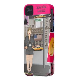Carola en Nueva York Case-Mate iPhone 4 Protectores