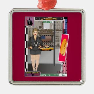 Carola in New York Metal Ornament