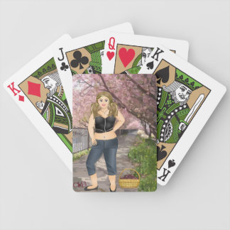 Carola in the Cherry trees Bicycle Playing Cards