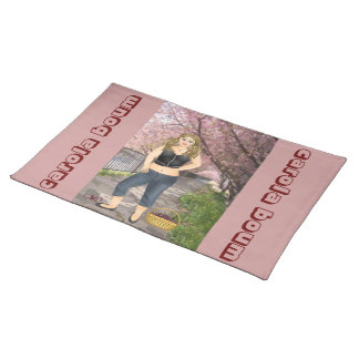 Carola in the Cherry trees Cloth Place Mat