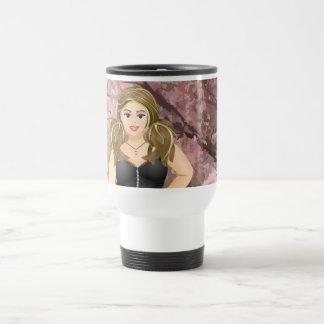 Carola in the Cherry trees Travel Mug