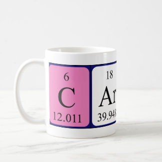 Carola periodic table name mug