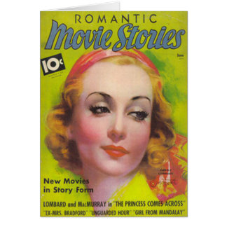 Carole Lombard on the cover of Movie Stories 1936 Card