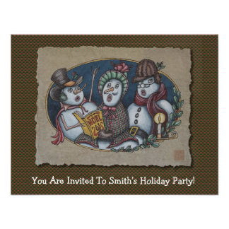 Carolers del navidad de los muñecos de nieve comunicado