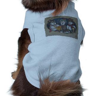 Carolers del navidad de los muñecos de nieve camisetas de perrito