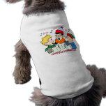 Carolers del navidad ropa de mascota
