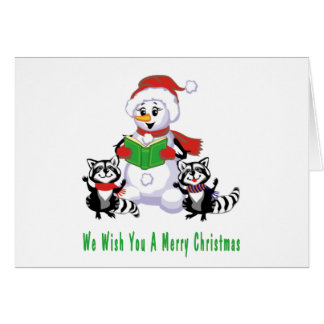 Carolers del navidad tarjeta de felicitación