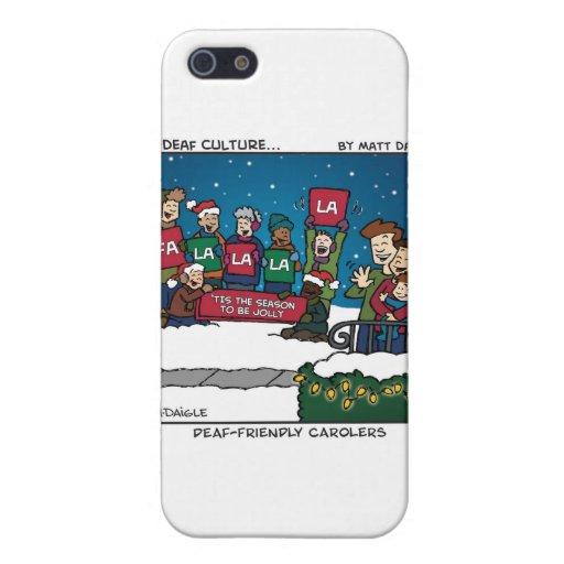 Carolers Sordo-Amistosos iPhone 5 Carcasas
