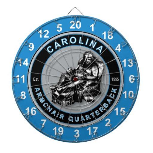Carolina Armchair Quarterback Football Dartboard Zazzle