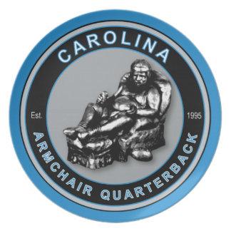 Carolina Armchair Quarterback Plate